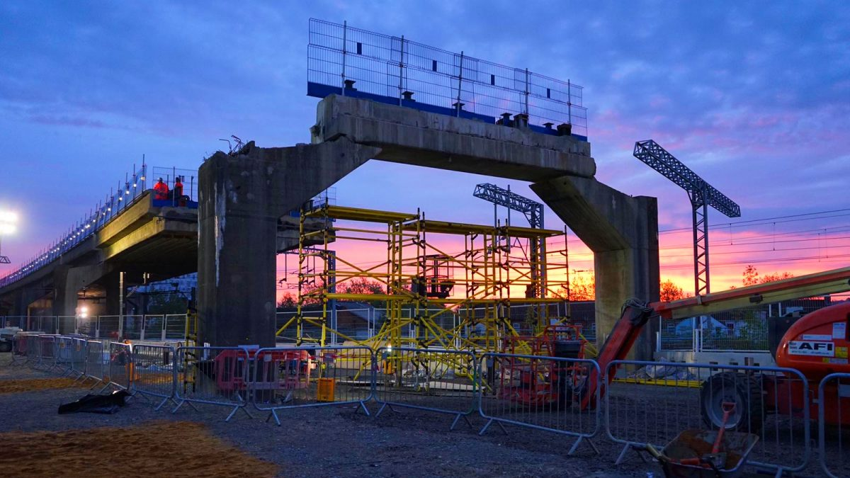 Next phase of railway flyover demolition involves three of the UK's largest cranes